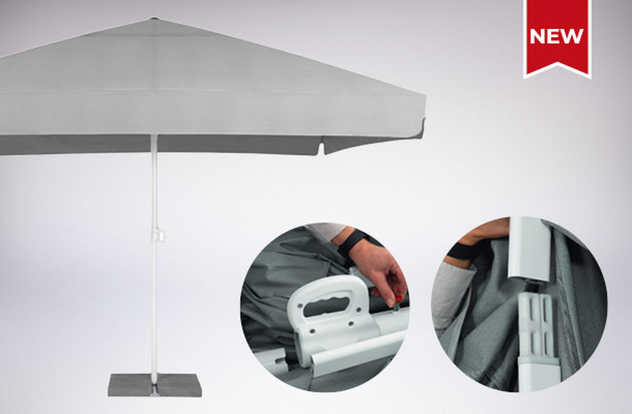 NEW: Mobile promotional parasol