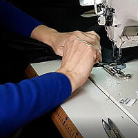 Sewing panels together