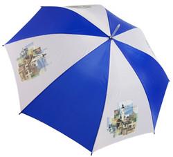 Foil transfer printing on umbrella