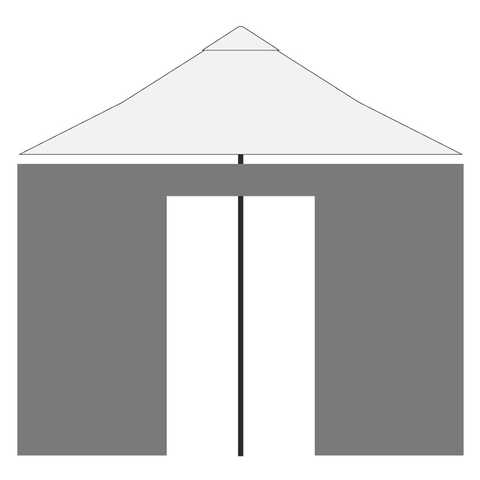 Side wall for parasol